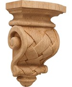Hand Carved Wood Corbel - Cottage