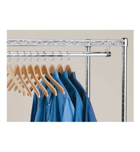 InterMetro Clothes Hanger Rod with Brackets Image
