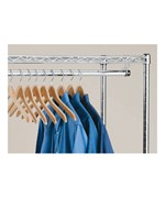 InterMetro Clothes Hanger Rod with Brackets