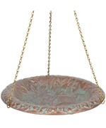 Hanging Birdbath - Oak Leaf