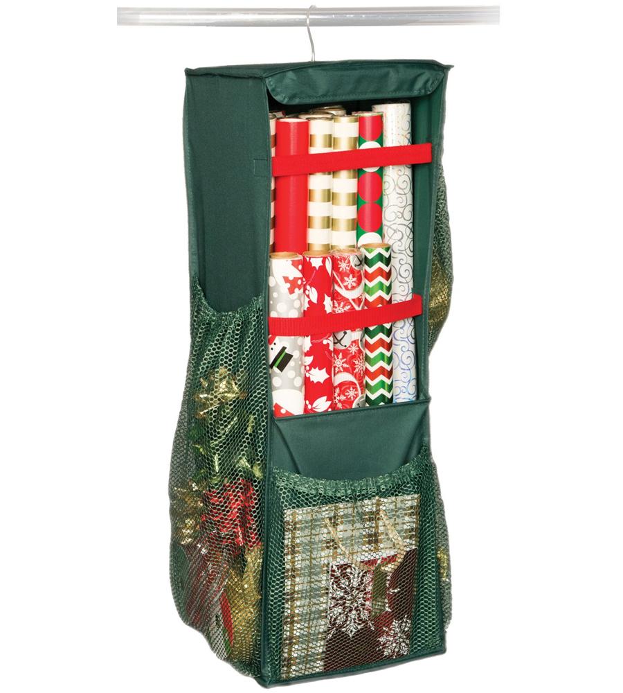 Hanging Gift Wrap Organizer In Gift Wrap Organizers