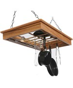 Hanging Pot and Pan Holder - Halogen Lighted