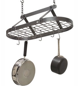 Hanging Pot Rack - Classic Oval with Grid Image