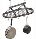 Hanging Pot Rack - Classic Oval with Grid