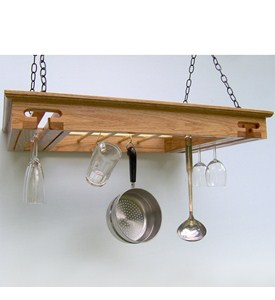 Hanging Pot Rack - Stemware Holder Image