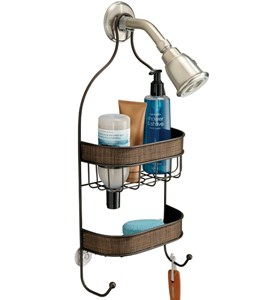 Hanging Shower Caddy - Bronze Image