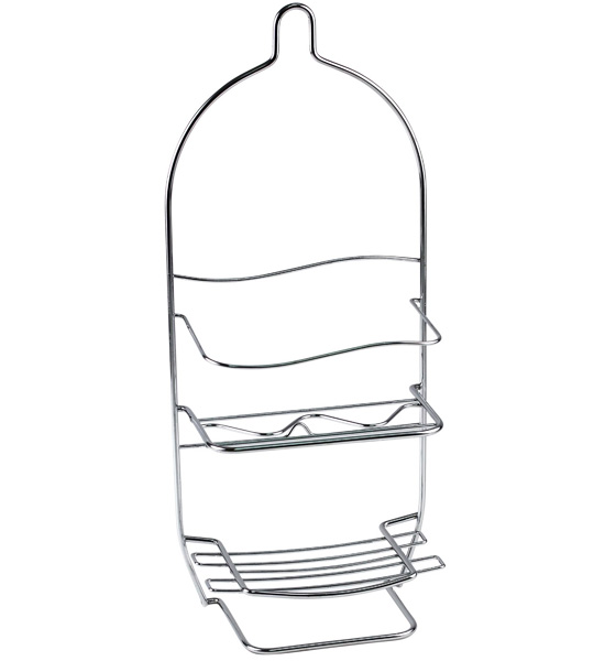 hanging shower caddy chrome
