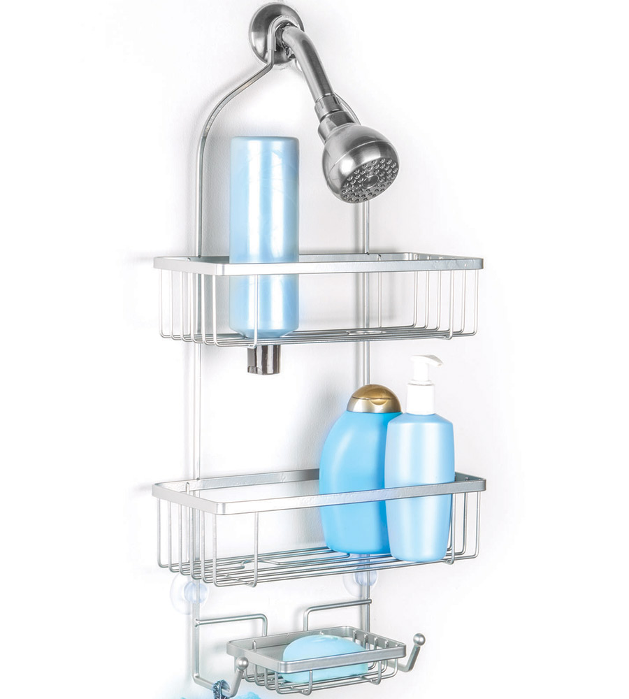 Hanging shower caddy rockford in shower caddies for Bath shower accessories