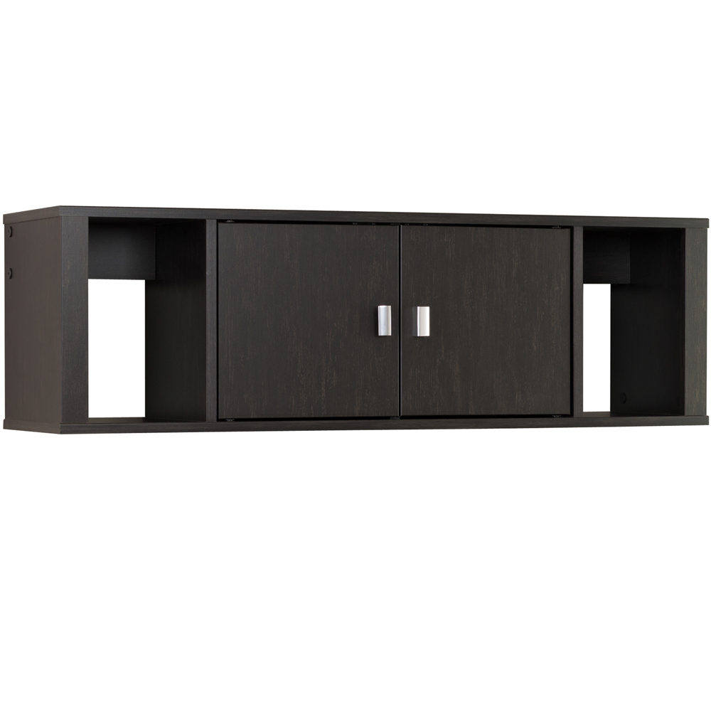 contemporary w hanging hutch prepac desk wall wd k raw