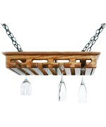 Hanging Wood Stemware Rack