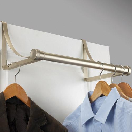 Over The Door Metal Closet Rod Nickel In Closet Rods And