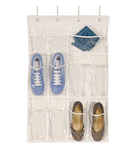 Clear Over Door Shoe Organizer Image
