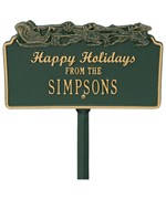 Happy Holidays Lawn Plaque - Sleigh
