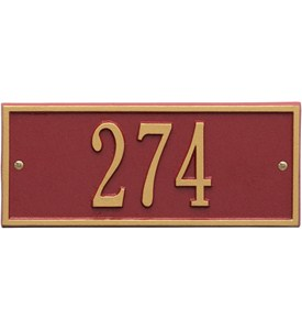 Hartford Entryway Home Address Plaque Image