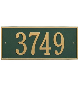 Hartford Estate Wall Address Plaque Image