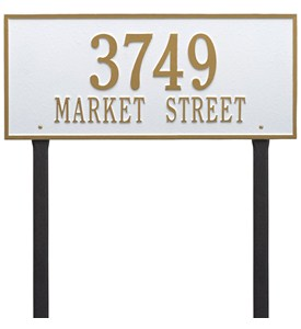 Hartford Lawn Address Plaque - Estate Two-Line Image