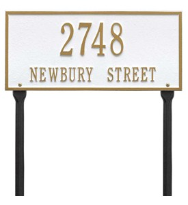Hartford Standard Lawn Address Plaque Image