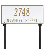 Hartford Standard Lawn Address Plaque