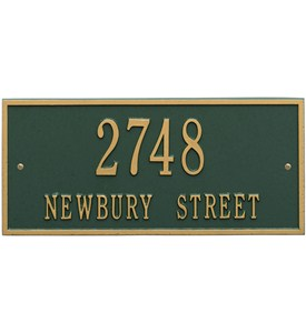 Hartford Wall Address Plaque - Two-Line Image