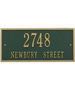 Hartford Wall Address Plaque - Two-Line
