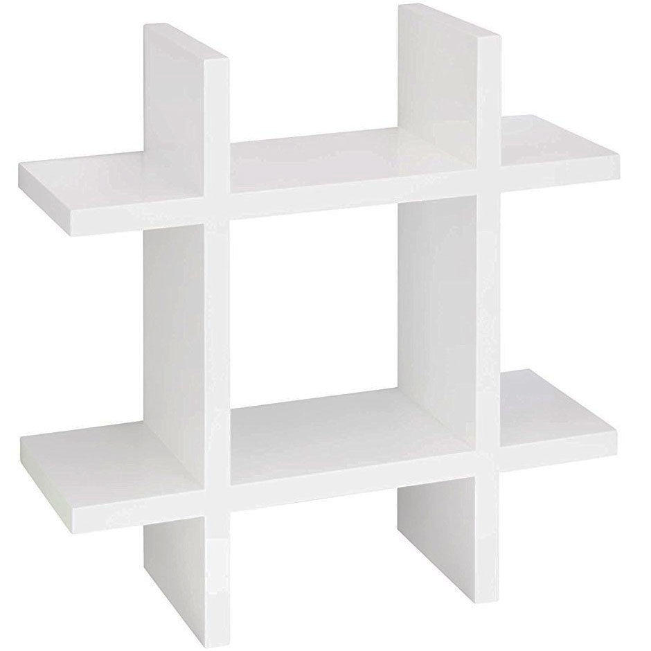 Hashtag Shaped Wall Shelf In Wall Mounted Shelves
