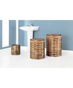 Havana Collection Round Hampers With Wastebasket (Set of three) by Neu Home
