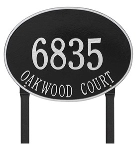 Hawthorne Estate Lawn Address Plaque Image