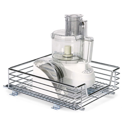 Pull Out Wire Basket Base Cabinet Chrome Kitchen Storage: Chrome Sliding Cabinet Organizer