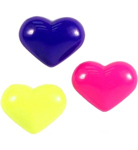 Heart Refrigerator Magnets (Set of 3) Image