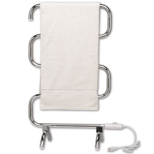 Classic Warmrails Towel Rack Polished Chrome In Towel