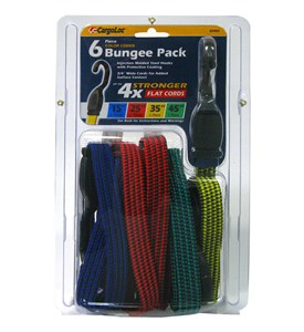 Heavy-Duty Bungee Cords (Set of 6) Image