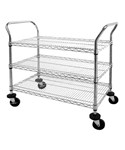 Heavy Duty Chrome Wire Shelf Cart