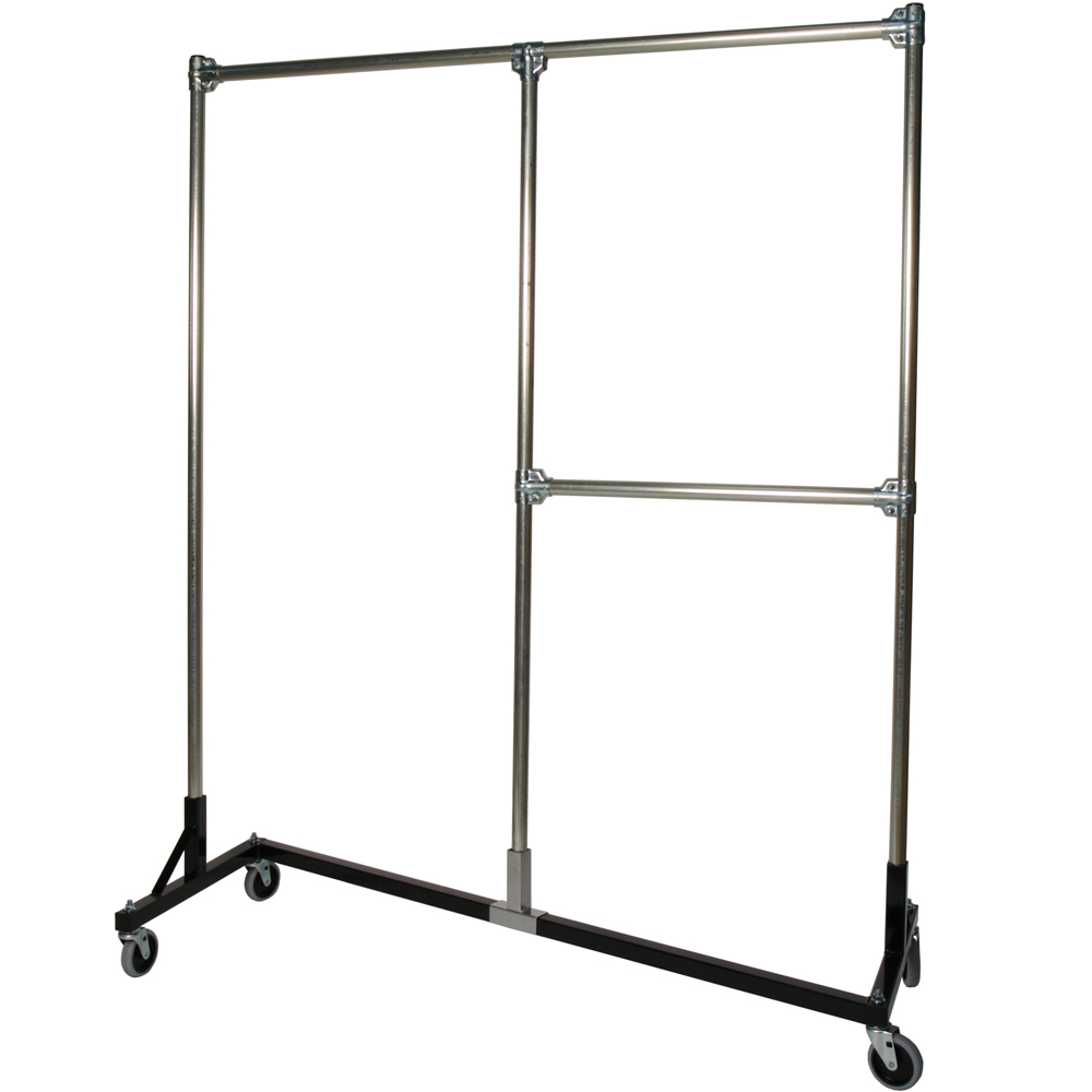 heavy duty garment rack split rail in clothing racks and. Black Bedroom Furniture Sets. Home Design Ideas