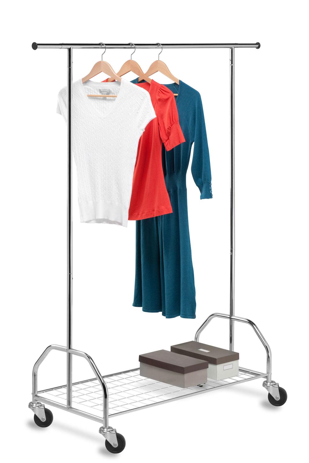 heavy duty garment rack with shelf price