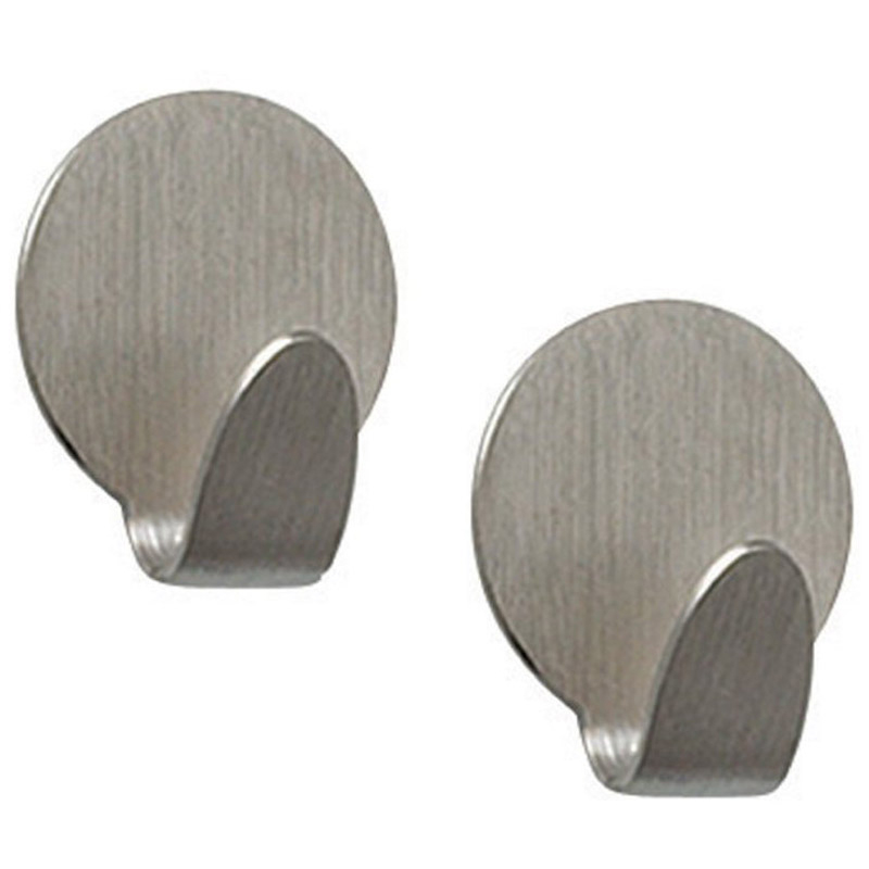 Heavy Duty Magnetic Hooks Brushed Nickel Set Of 2 In