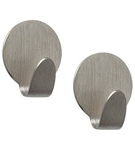 Heavy-Duty Magnetic Hooks - Brushed Nickel (Set of 2) Image