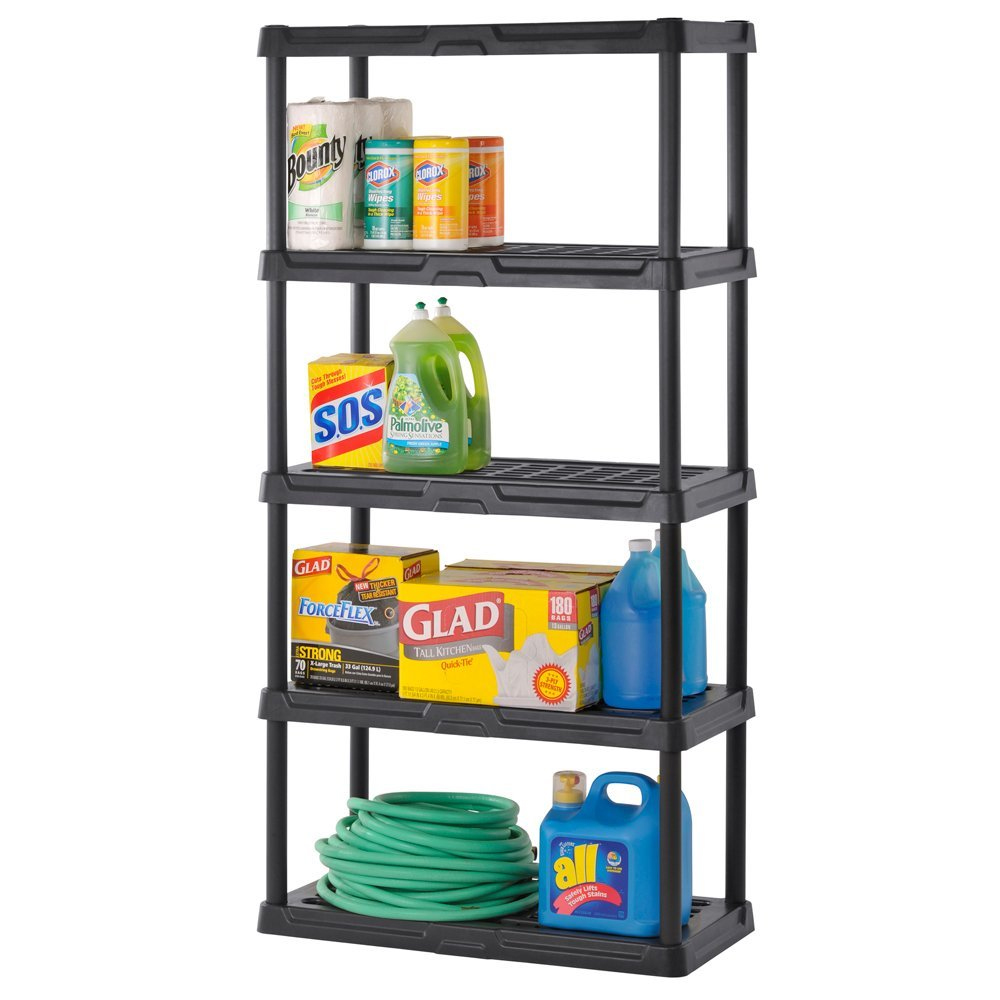 heavy duty plastic shelving five shelf in heavy duty storage shelving. Black Bedroom Furniture Sets. Home Design Ideas