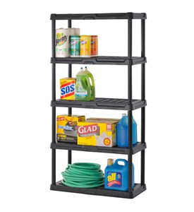 Heavy-Duty Plastic Shelving - Five Shelf Image