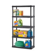 Heavy-Duty Plastic Shelving - Five Shelf