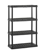 Heavy-Duty Plastic Shelving - Four Shelf
