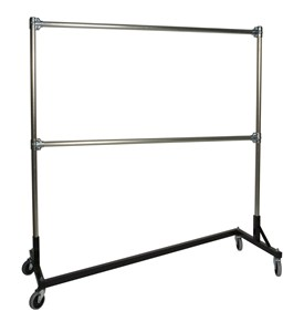 Heavy Duty Portable Clothes Rack - 5ft Double Rail Image