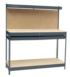 Heavy Duty Workbench with Single-Drawer by Edsal Image
