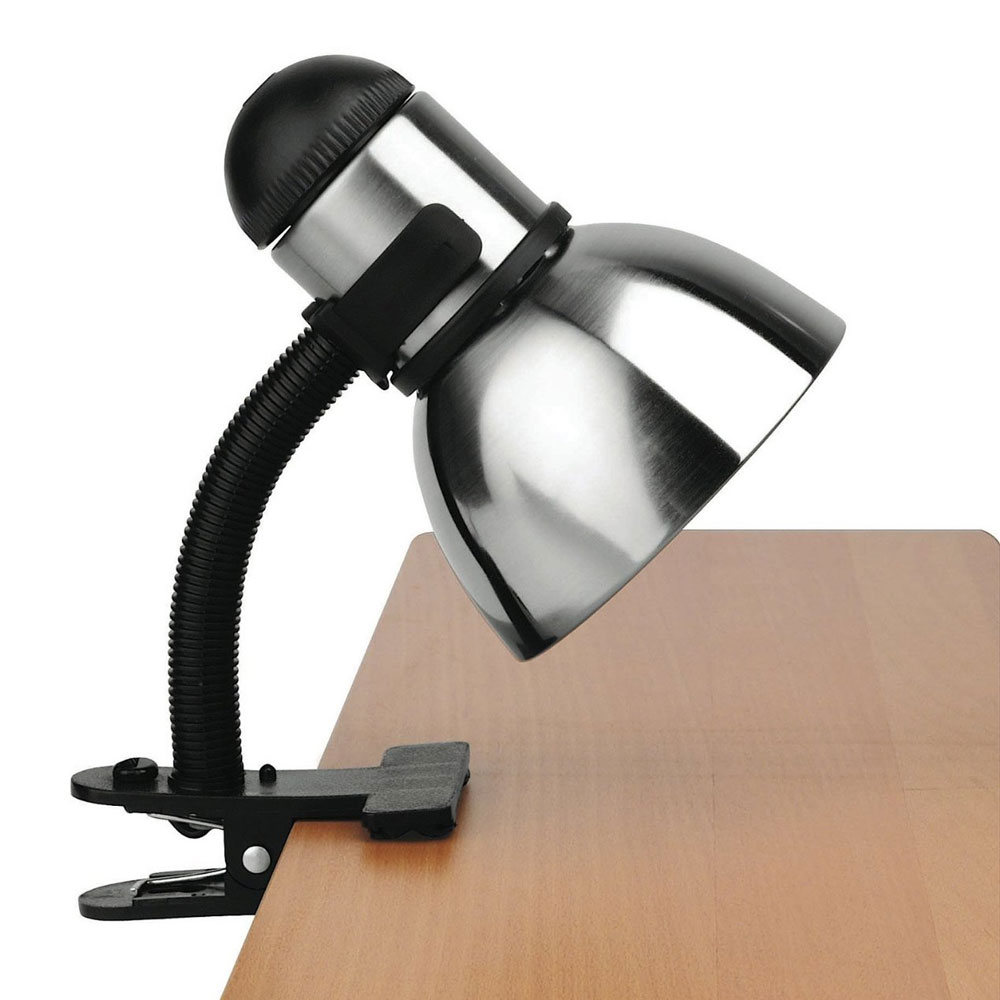 Desk Lamp Clamp: Henrik Adjustable Clip-On Desk Lamp Image,Lighting