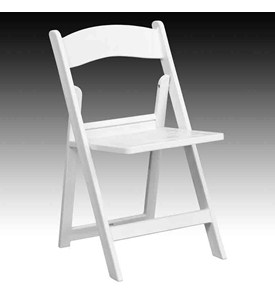 HERCULES Series 1000 lb. Capacity White Resin Folding Chair with Slatted Seat by Flash Furniture Image