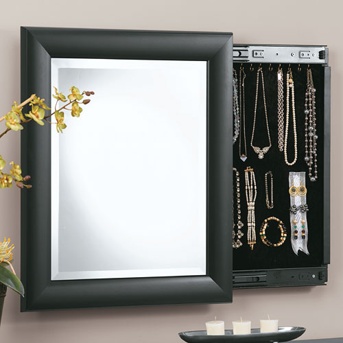 Decorative Wall Mirror Jewelry Organizer : Decorative wall mirror and jewely organizer in jewelry