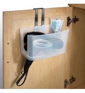 Over Cabinet Blow Dryer Holder And Basket In Hair Dryer Holders