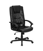 High Back Black Bonded Leather Executive Office Chair by Flash Furniture