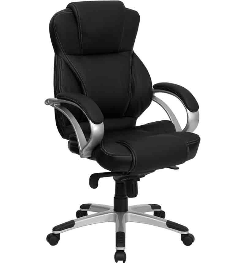 contemporary leather high office chair black. Contemporary Leather High Office Chair Black. Brilliant Black Back T
