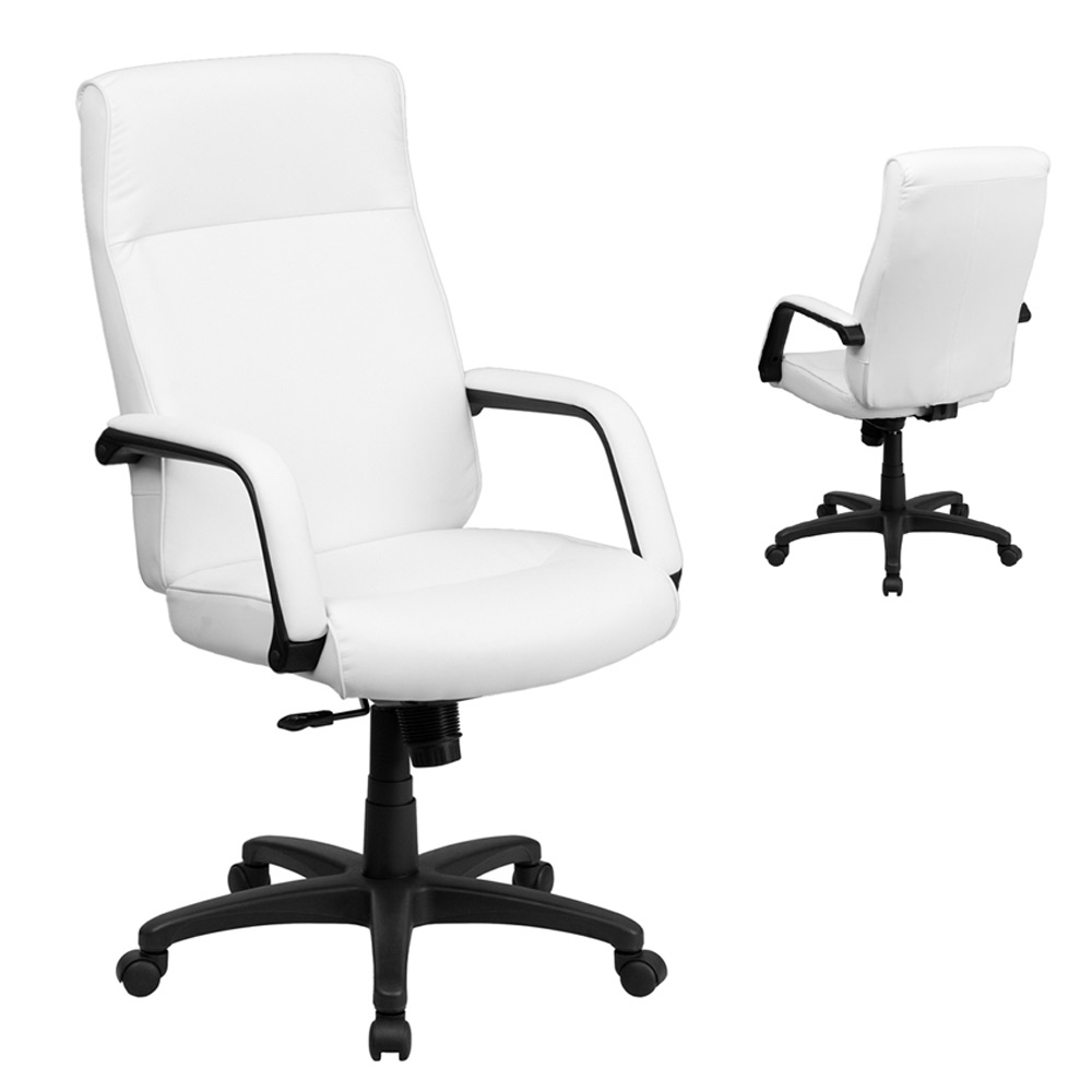 High Back Leather Executive Office Chair With Memory Foam