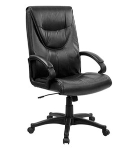 High Back Leather Executive Swivel Office Chair by Flash Furniture Image